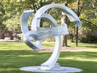 Modern Abstract Statue Stainless Steel Sculpture